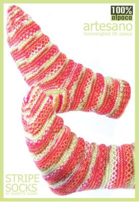 Stripe Socks Pattern Sheet