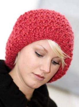 SALE: Raspberry Beret Knitting Kit