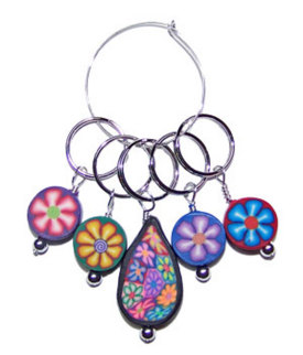 Stitch Marker Set - Flower Power